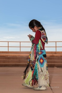 Native American girl in the Grand Canyon West.